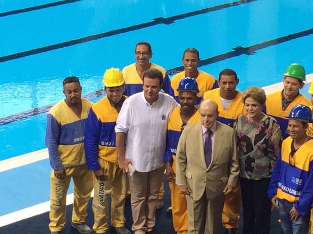 A presidente Dilma participa de evento no Rio de Janeiro nesta sexta (8) (Foto: Henrique Coelho/G1)