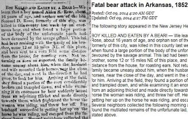 Jornal americano publicou correção de notícia de 1852 (Foto: Reprodução/Twitter/)