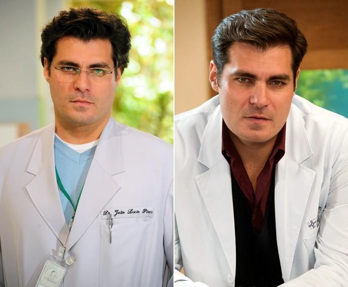 Thiago Lacerda viveu médico duas vezes: Viver a Vida (2009) e Alto Astral (2014) (Foto: Globo/João Miguel Júnior e Estevam Avellar)