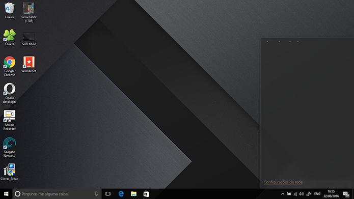 Build 14371 pode apresentar problemas no atalho de Wi-Fi do Windows 10 (Foto: Reprodução/Elson de Souza)