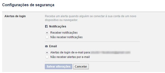 Alertas informam usuários de acessos estranhos a suas contas (Foto: Reprodução/Facebook)