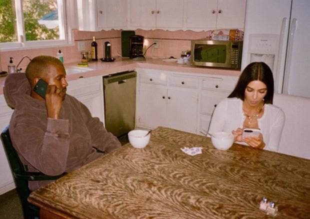 Kanye West e Kim Kardashian (Foto: Reprodução)