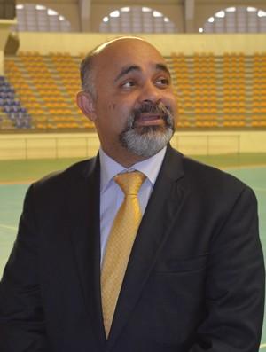 Ministro do Esporte, George Hilton, em visita a Paraíba (Foto: Larissa Keren / GloboEsporte.com/pb)