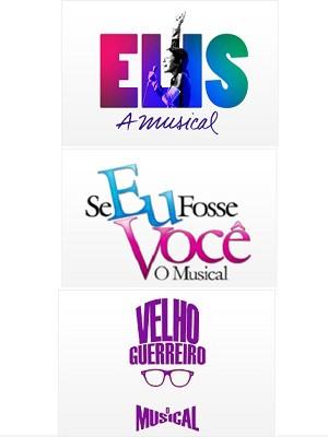 Logos dos musicais que irão estrear neste ano e ano que vem (Foto: Divulgação/Aventura Entretenimento)