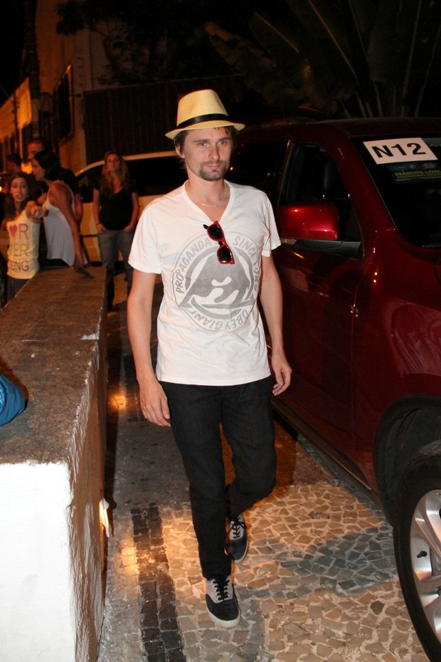 Matt Bellamy, vocalista do Muse (Foto: Wallace Barbosa/AgNews)