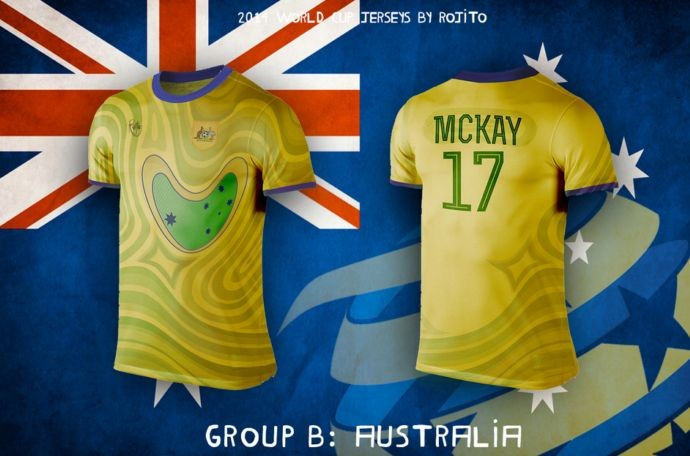 Blog da Copa - design camisa da Austrália