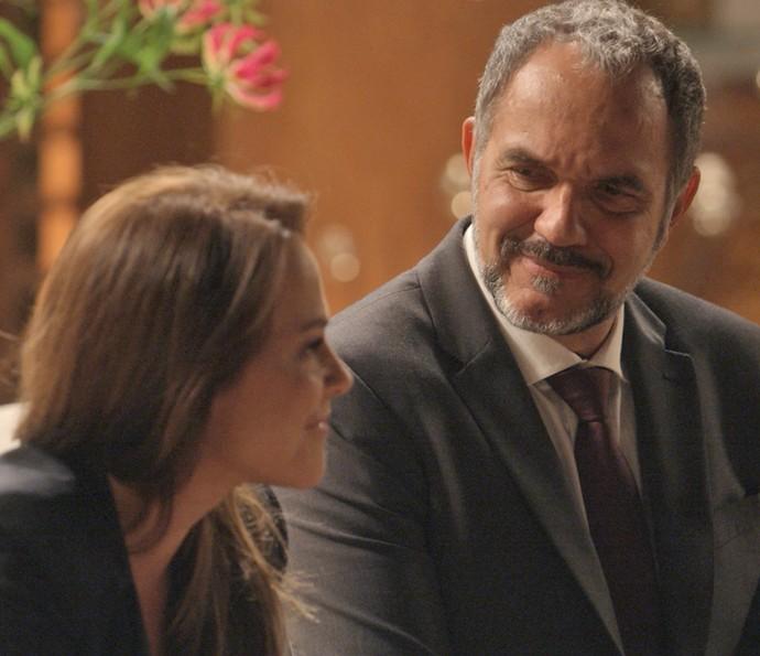 Germano fica feliz com convite (Foto: TV Globo)