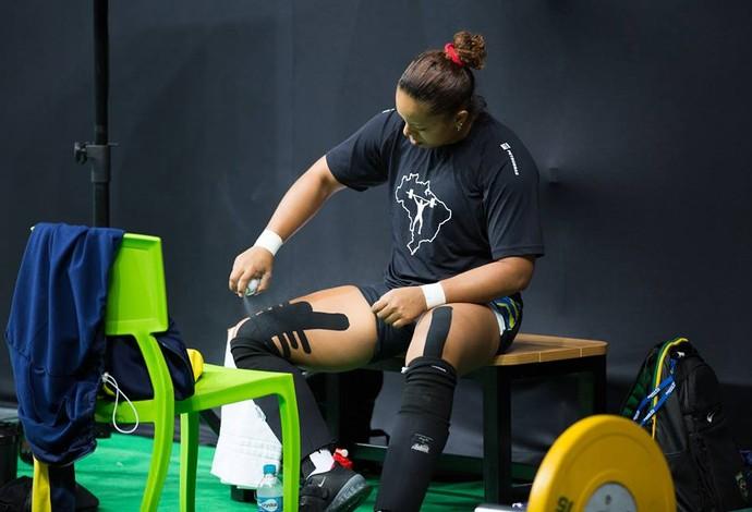 Jaqueline Ferreira evento-teste Rio 2016 levantamento de peso (Foto: Gabriel Nascimento/Rio 2016)
