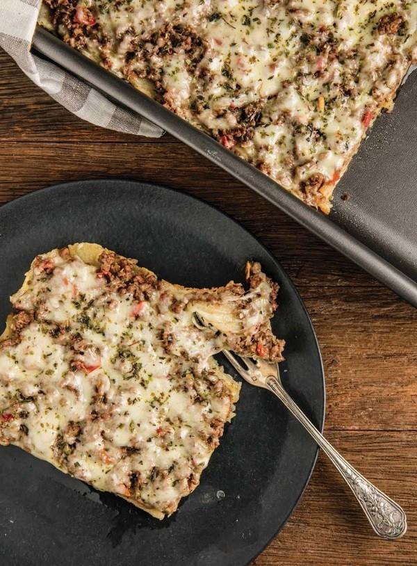 Pizza de batata com carne moída é a preferida dos filhos de Rodrigo Hilbert  (Foto: Tomás Rangel/ divulgação)