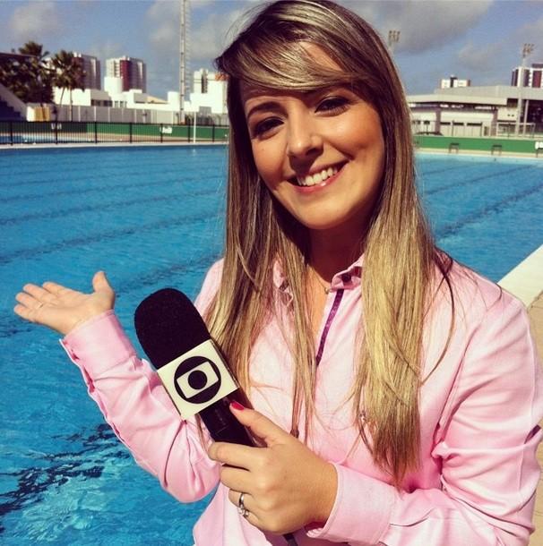 Susi Martins em produção do Viva Esporte desta semana (Foto: Divulgação / TV Sergipe)