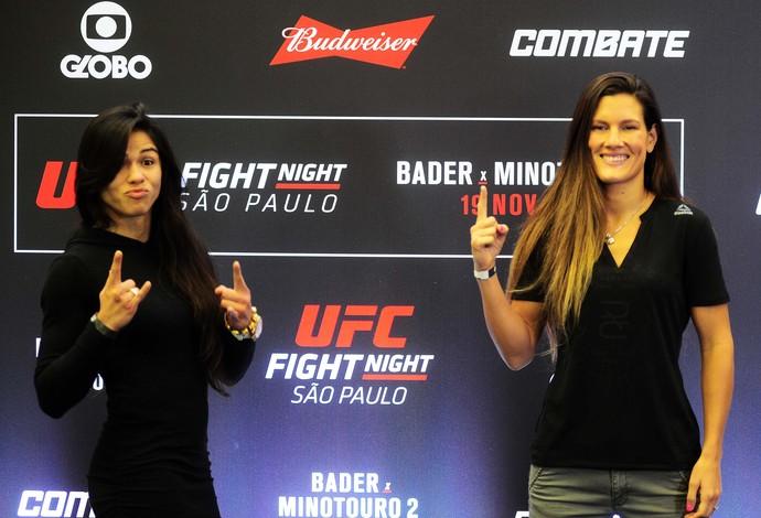 Claudia Gadelha, Cortney Casey, UFC São Paulo (Foto: Marcos Ribolli)