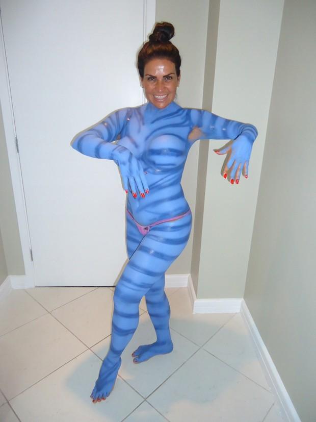 Solange Gomes se transforma em Avatar (Foto: Divulgação)