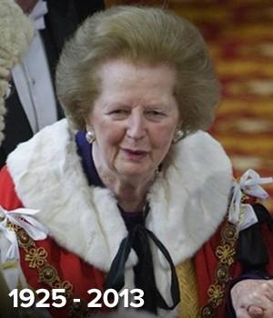A  ex-premiê britânica Margaret Thatcher (Foto: AFP)