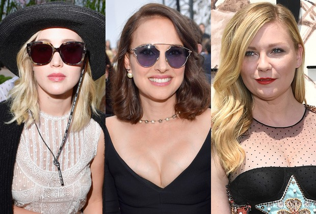 Jennifer Lawrence, Natalie Portman e Kirsten Dunst (Foto: Getty Images)