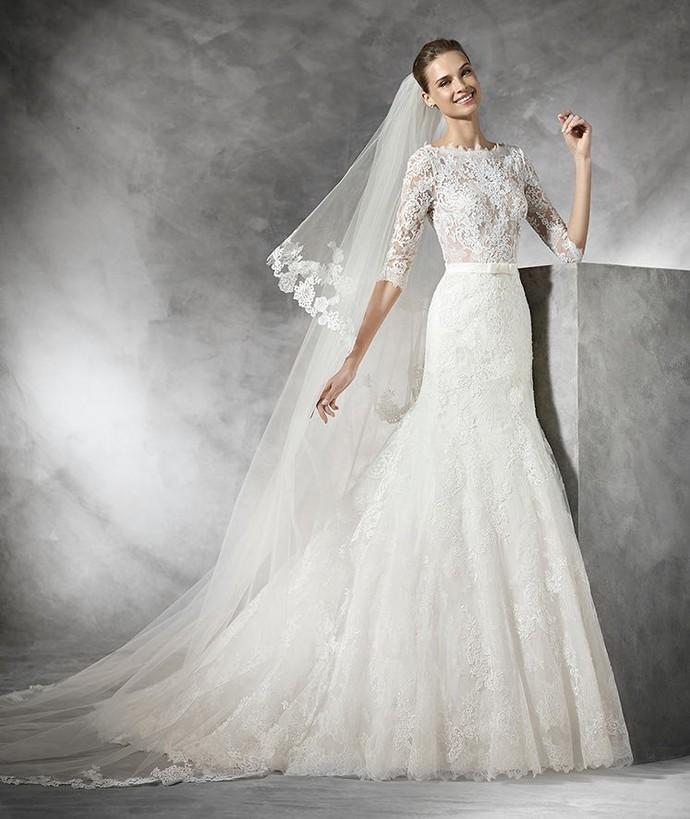 Vestido de noiva com cintura marcada (Foto: imagem da internet)