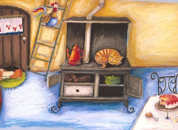 """Ilustração do livro """"Os músicos de Bremen"""", de Flávio de Souza (Foto: Divulgação/ Ellen Pestili)"""