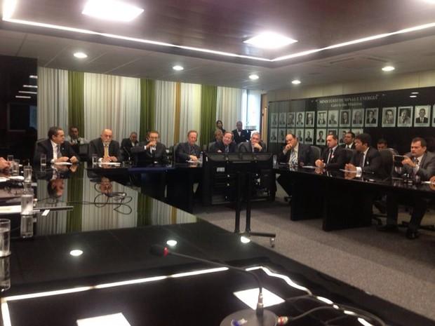 reunião Ministro Edson Lobão, Santarém (Foto: Alberto Oliveira)