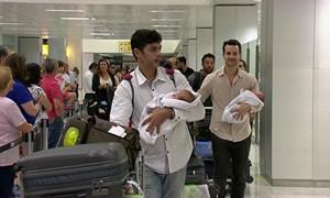 Casal tem gêmeas com ajuda de barriga de aluguel  (Rede Globo)