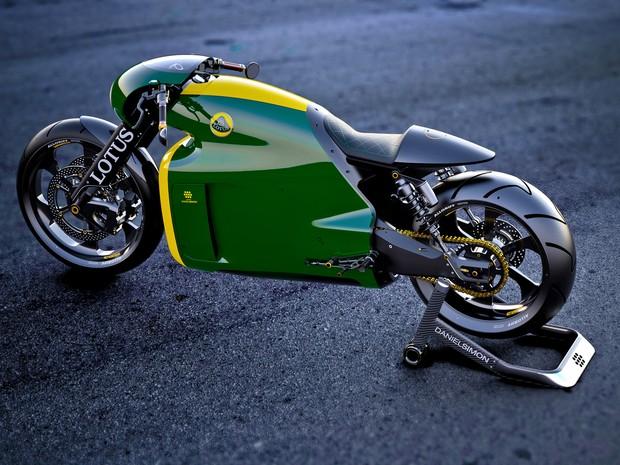 Lotus C-01, a primeira moto  (Foto: Divulgação)