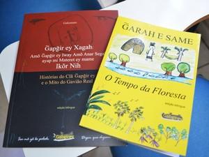 Livros lançados em 2010 e 2011 (Foto: Paula Casagrande/G1)