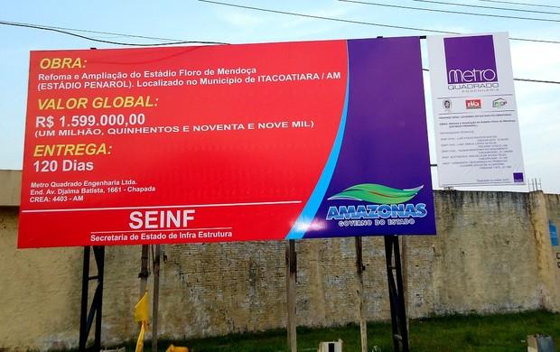 Construção no Floro de Mendonça, em Itacoatiara (AM) (Foto: Juka Bala / Divulgação)