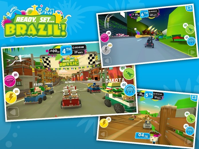 Ready Set Brazil é um jogo de corrida no estilo Mario Kart (Foto: Divulgação)
