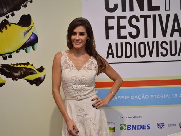 Deborah Secco em festival de cinema em Olinda (Foto: Felipe Souto Maior/ Ag. News)