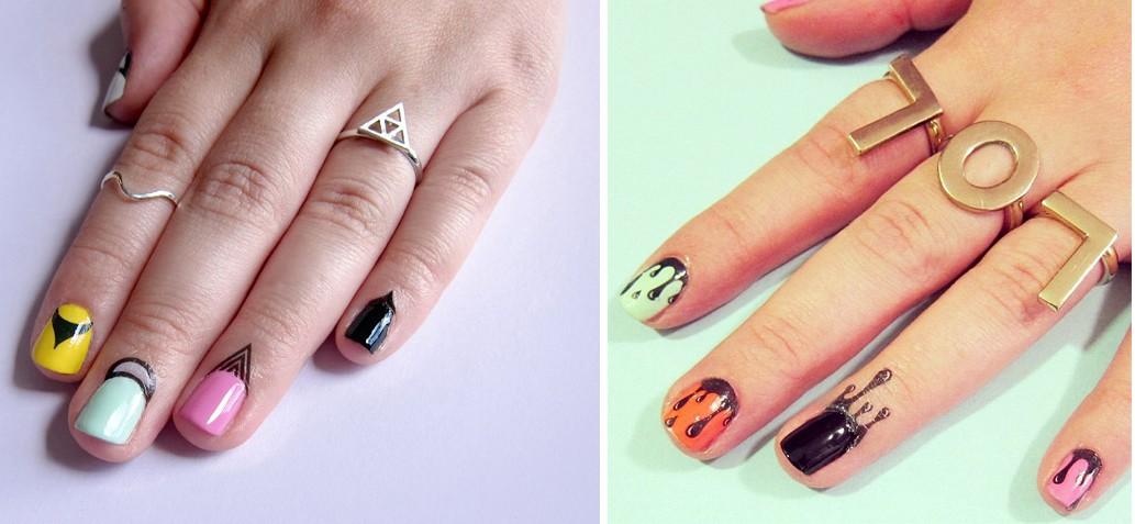 As tatuagens temporárias podem ser aplicadas na pele ou nas unhas (Foto: Reprodução/Instagram)