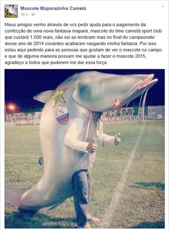 Maparazinho, mascote do Cametá  (Foto: Reprodução/Facebook)