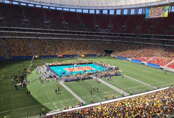 brasil x portugal estádio mané garrincha desafio vôlei (Foto: Divulgação CBV)