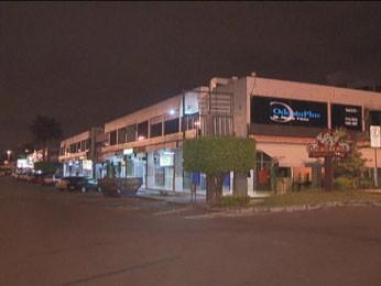 Pizzaria foi assaltada no Sudoeste (Foto: TV Globo/ Reprodução)