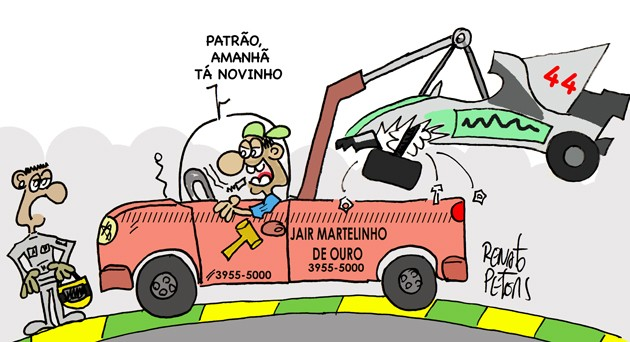 Martelinho de ouro - Charge Peters