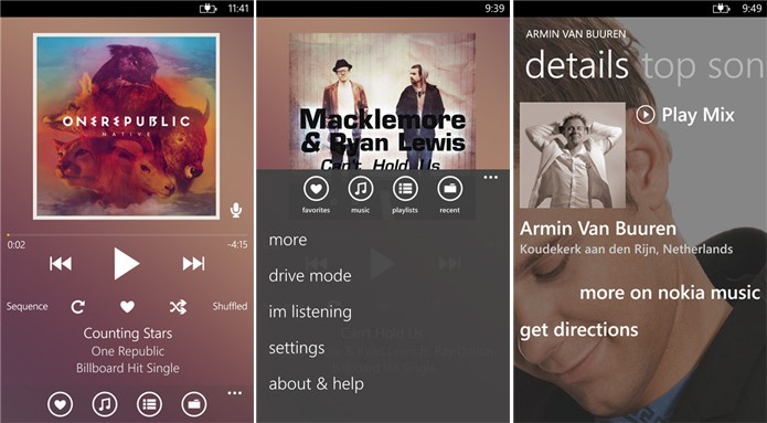 Extreme Music é um player completo para Windows Phone com suporte a gestos e comandos de voz (Foto: Divulgação/Windows Phone Store)