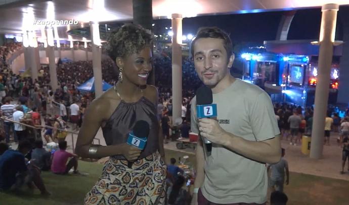 Jaque Santtos e Moacyr Massulo acompanham Festival Nema, em Manaus (Foto: Rede Amazônica)