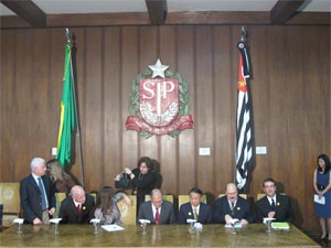 Alckmin e presidente da Foxconn participa de encontro no palacio dos bandeirantes (Foto: Leticia Macedo/G1)