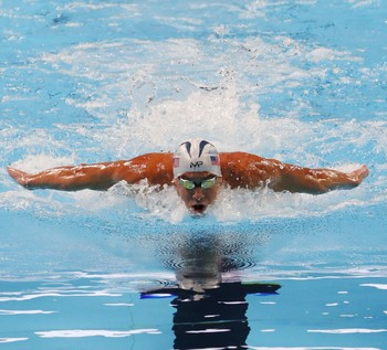 Phelps no trials de natação dos EUA (Foto: Erich Schlegel-USA TODAY Sports)