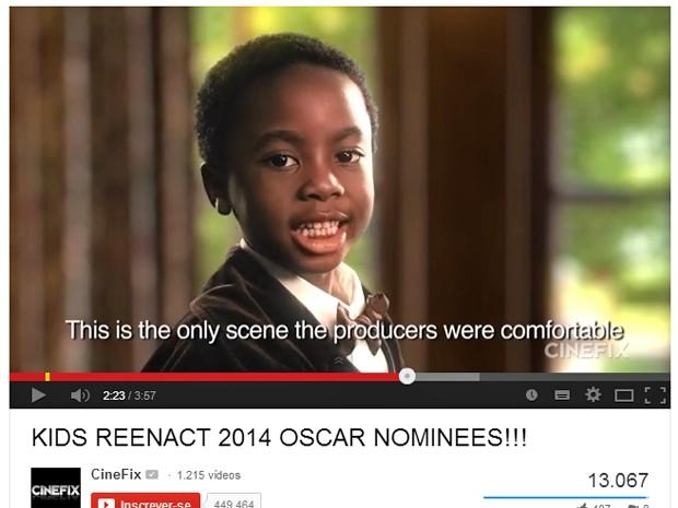 Paródia de '12 anos de escravidão' feita por crianças para canal do YouTube (Foto: Reprodução/YouTube)