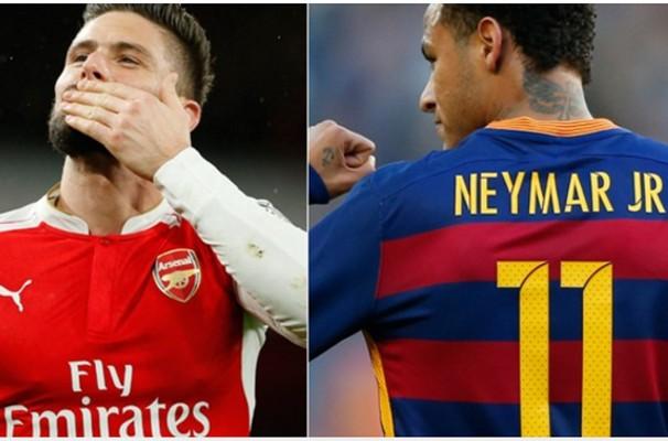 Barcelona e Arsenal se enfrentam nesta quarta (16) (Foto: Divulgação)