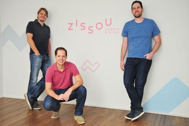 Andreas Burmeister, Amit Eisler e Ilan Vasserman, os fundadores da Zissou (Foto: Celina Germer)