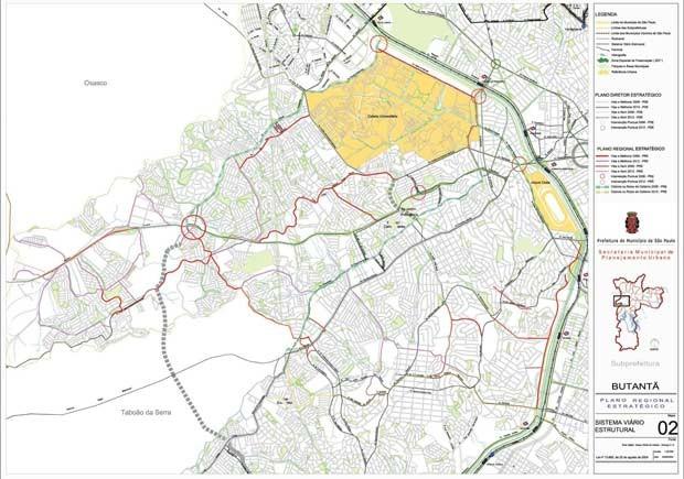 Mapa do Plano Regional Estratégico que previa inauguração da ciclovia em 2006 (Foto: Reprodução)