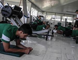 Treino Coritiba academia Leandro Almeida (Foto: Divulgação / Site oficial do Coritiba)
