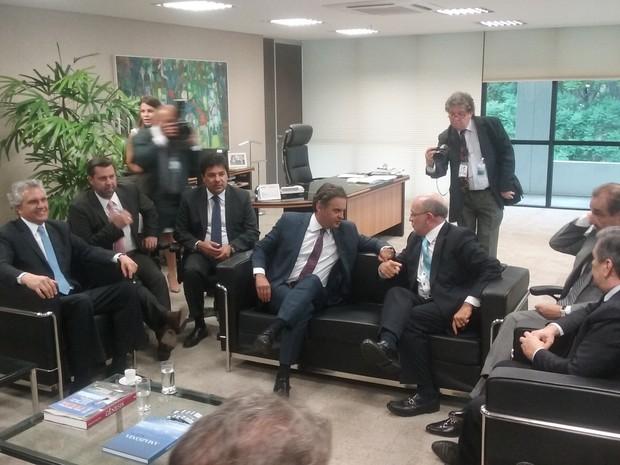 Comissão da oposição no TCU (Foto: Debora Cruz/G1)
