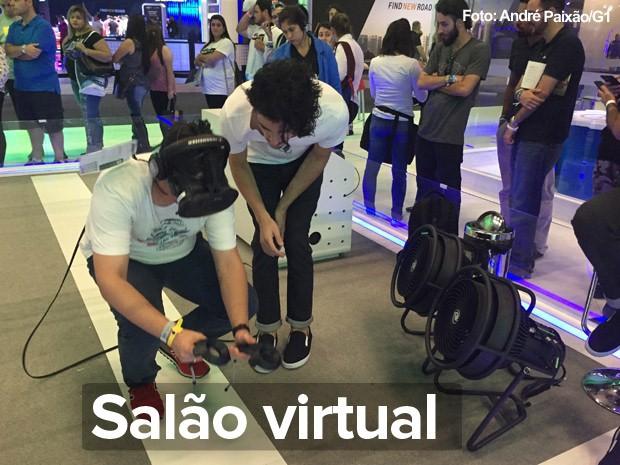 Realidade virtual no Salão de SP 2016 (Foto: André Paixão/G1)