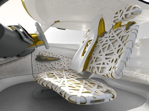 Interior do Renault Kwid foi baseado em ninho de pássaro (Foto: Divulgação)