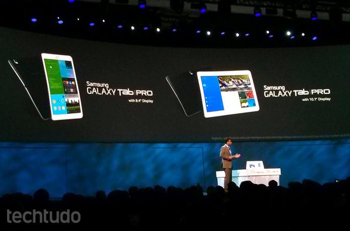 Galaxy Tab Pro 8.4 e 10.1 ganham funções dos irmãos maiores, mas não tem mesma potência (Foto: Isadora Díaz / TechTudo)