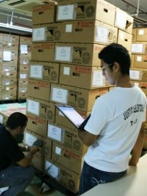 TRE-AM iniciou envio de urnas para o interior do AM (Foto: Divulgação/Ascom-TRE-AM)