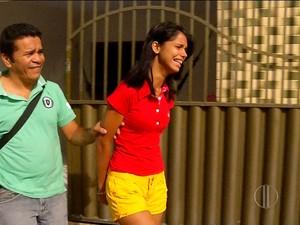 Carolline Barbosa foi presa na casa do pai, na Zona Norte de Natal (Foto: Reprodução/Inter TV Cabugi)