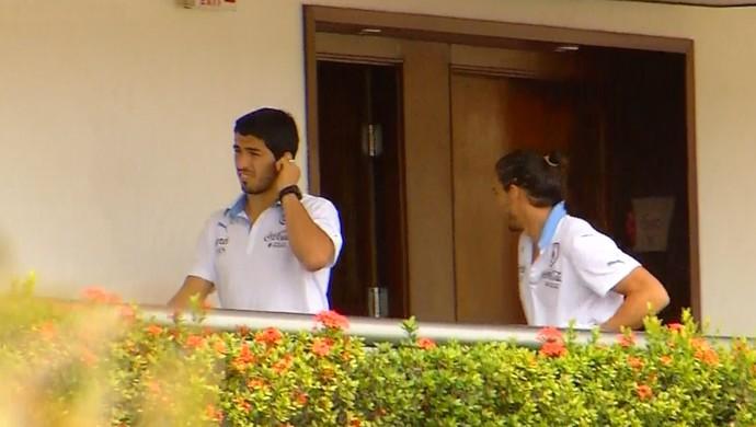 Luís Suárez em Natal (Foto: Reprodução/Inter TV Cabugi)