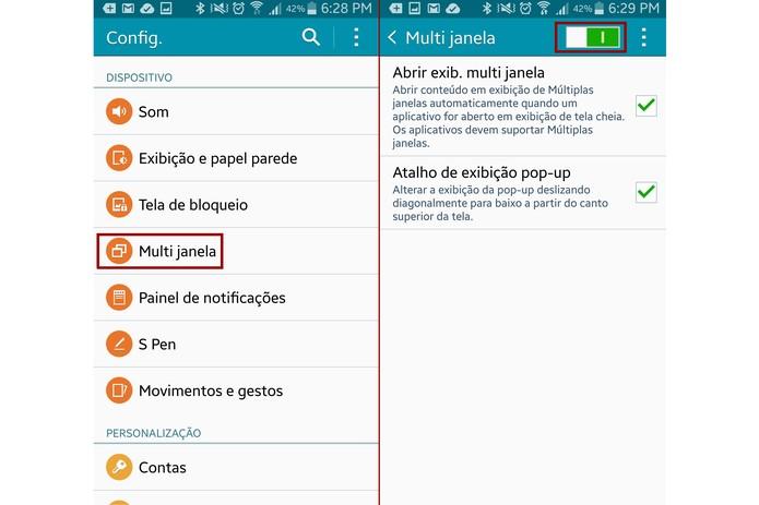 Ative o recurso de multi janela do Galaxy Note 4 (Foto: Reprodução/Lucas Mendes)