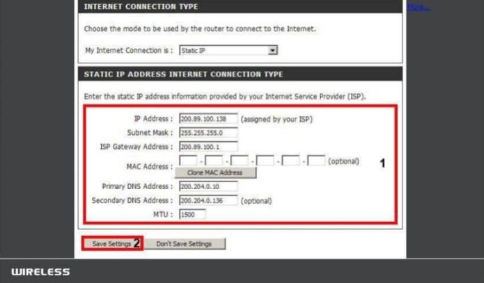 Finalizando a configuração de uma conexão com IP fixo (Foto: Reprodução/D-Link) (Foto: Finalizando a configuração de uma conexão com IP fixo (Foto: Reprodução/D-Link))